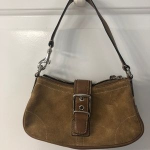 Coach, Suede Tan Mini Bag